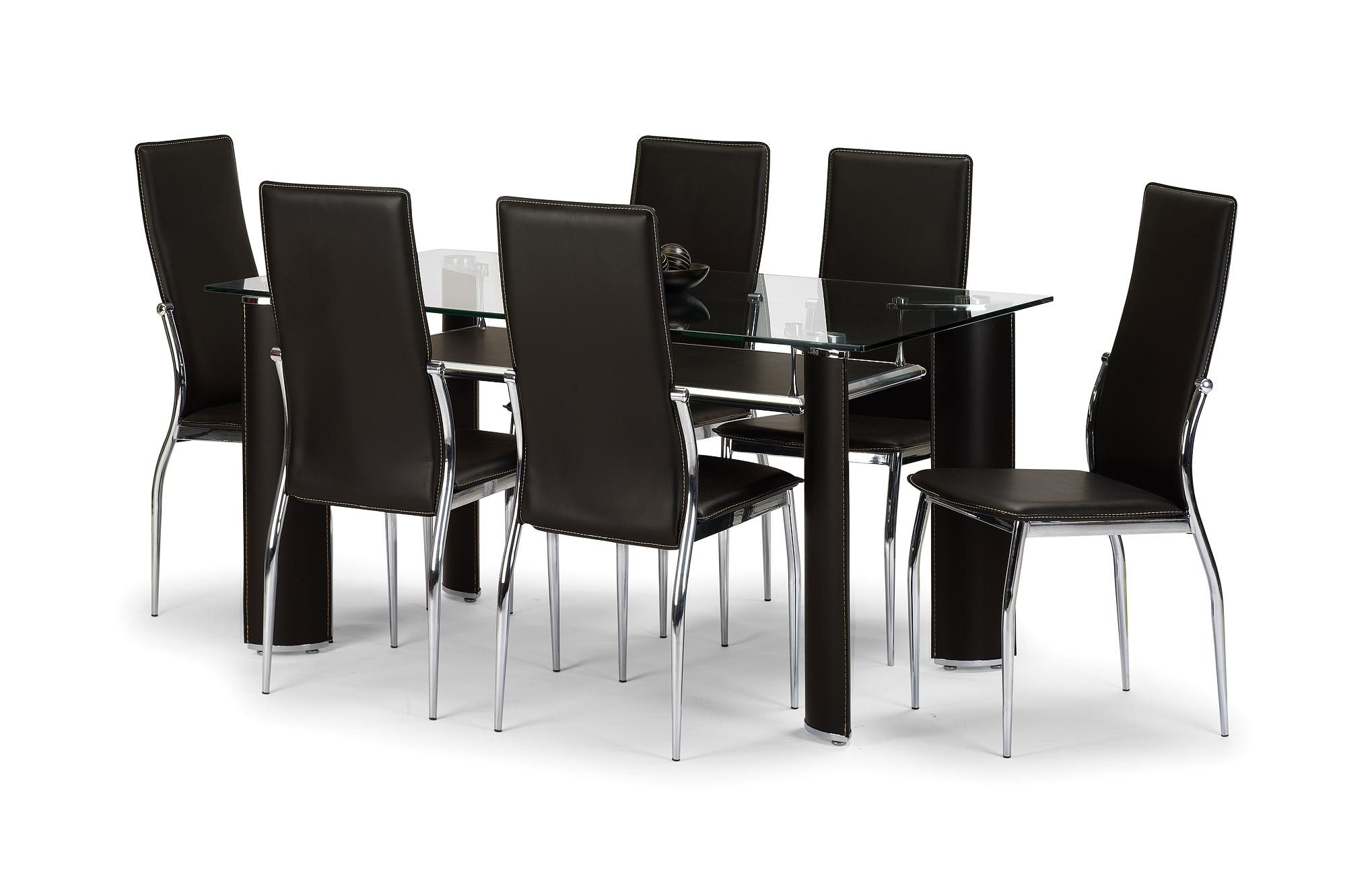 7b8bfbe42b06 Glass Dining Sets from London Bedroom Furniture