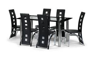 e9b50ed8bbe5 Brescia Dining Set - Brescia Dining Table + 6 Matching Dining Chairs Table  Size 160w x 77h x 90d (cm)
